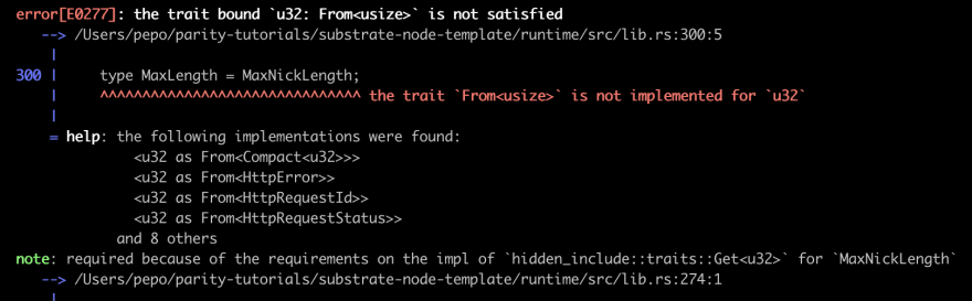 error compiling