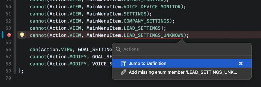 Nova code actions