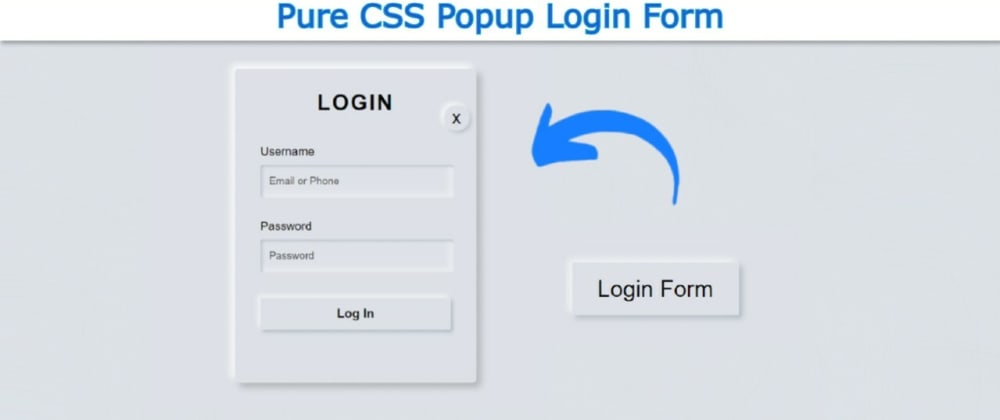 Cover image for Popup Login Form Design using only HTML & CSS