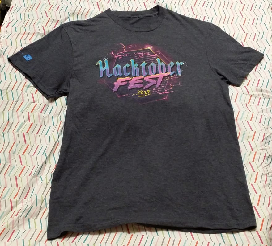 My Hacktoberfest 2019 t-shirt