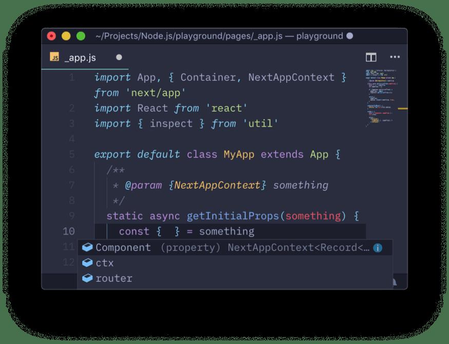 App context object properties