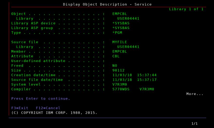 DSPOBJD_EMPCBL_service