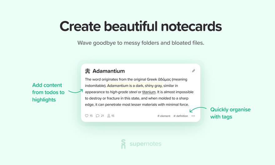Card Format - Supernotes