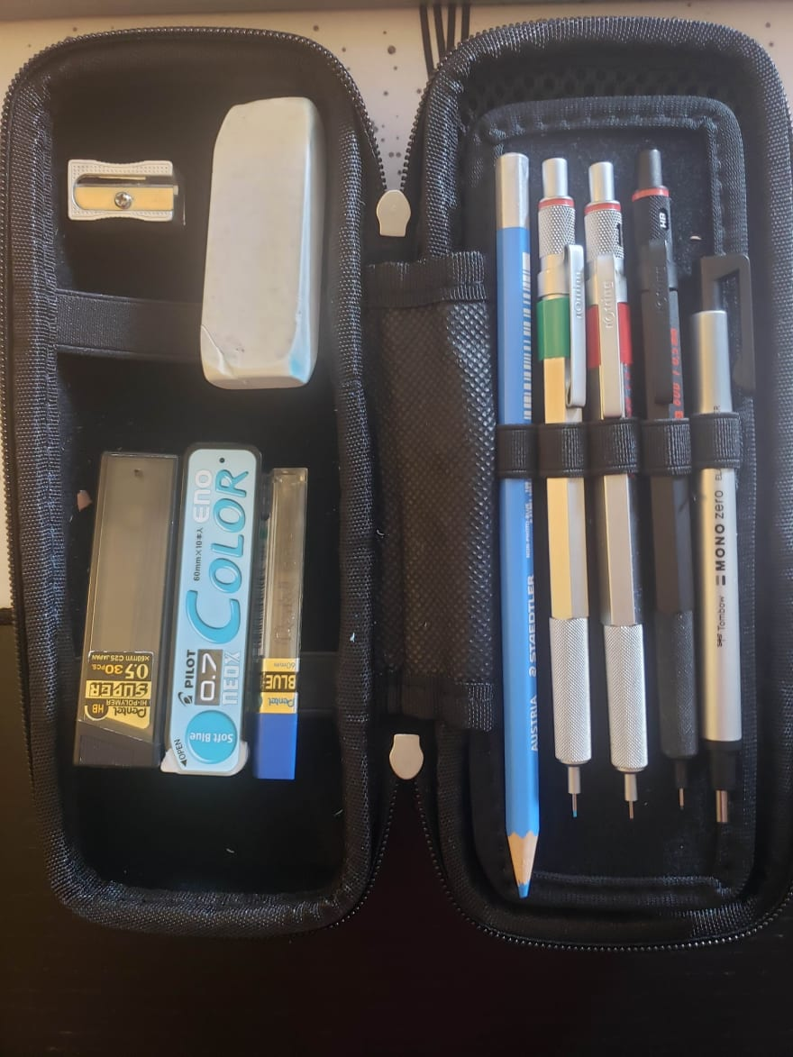 Pencils and other instruments I use to draw