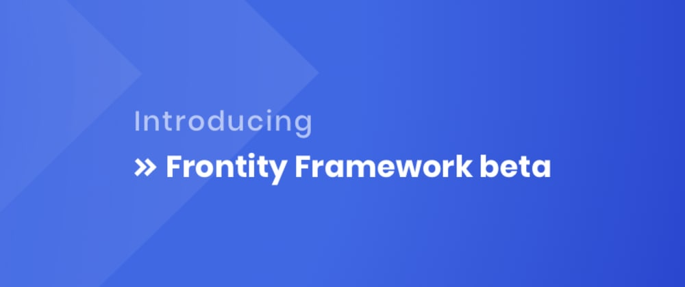 Cover image for Introducing Frontity Framework Beta