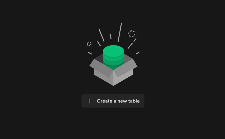 Screenshot of Supabase New table screen