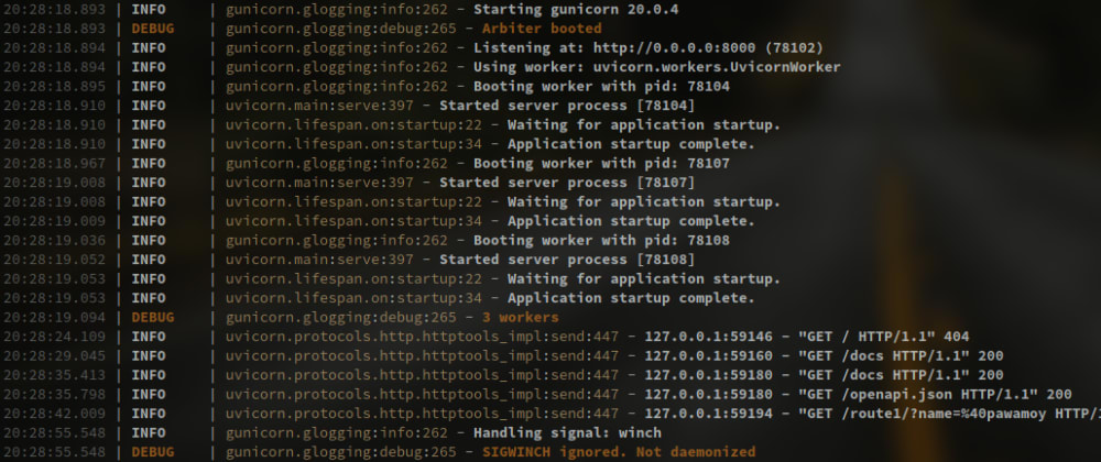 Cover image for Unify Python logging for a Gunicorn/Uvicorn/FastAPI application