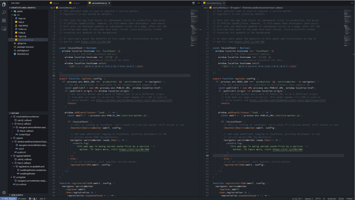 Splitting The VS Code Editor