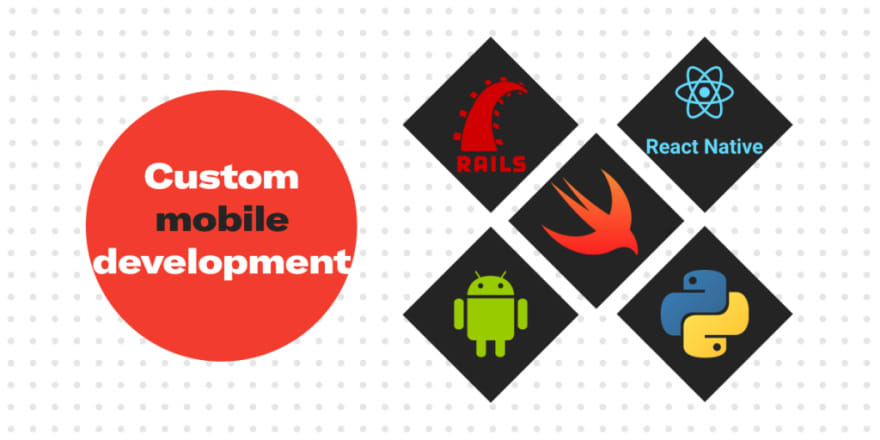 Custom mobile development tech stack by Syndicode