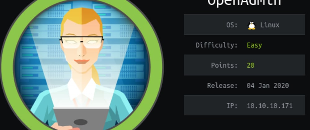 Cover image for Writeup: HackTheBox OpenAdmin - Without Metasploit (OSCP Prep)