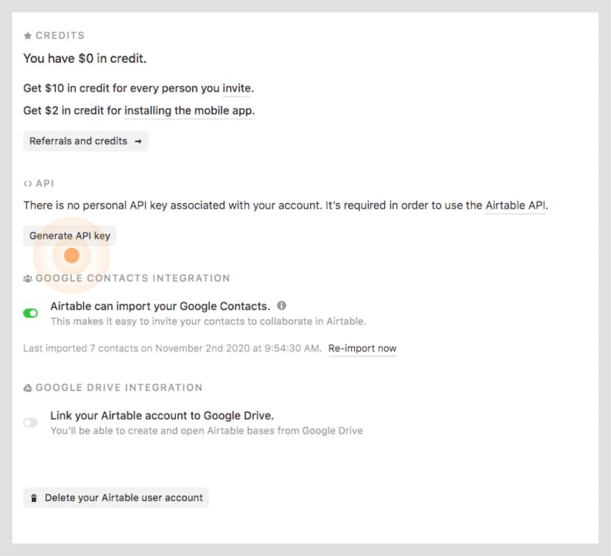 Generate API Key Step 3