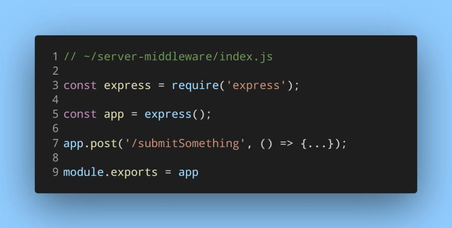 Exporting an Express server