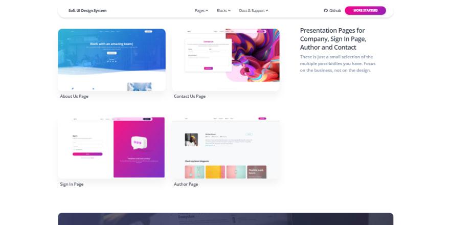 Soft UI Design System - Sample Pages.