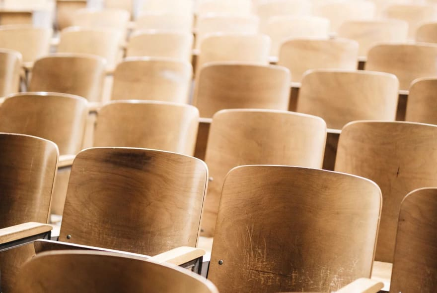 Row of seats in a lecture hall