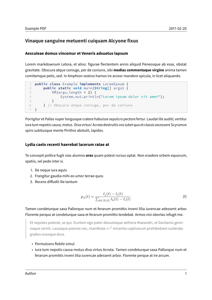 A basic example page