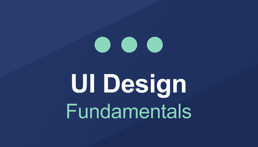 Course cover for the UI Design Fundamentals course
