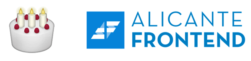 First birthday of Alicante Frontend
