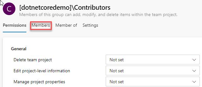 Contributor default permissions