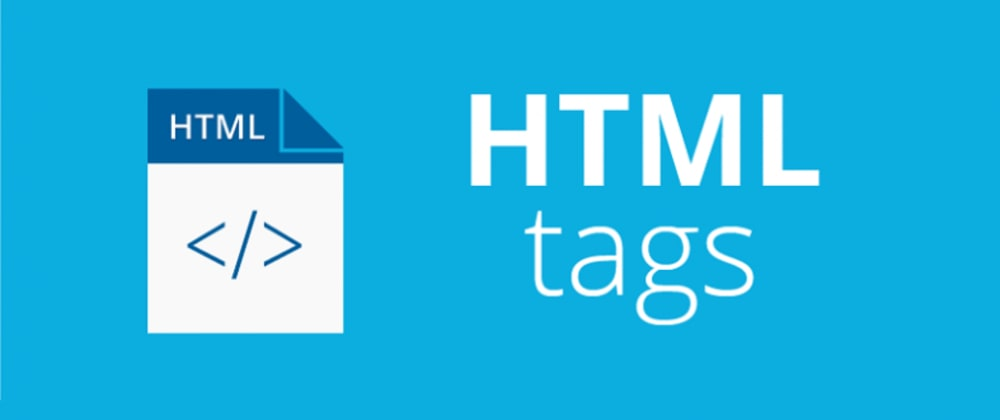 Cover image for HTML tags | article