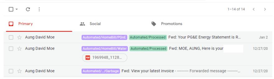 Inbox Emails