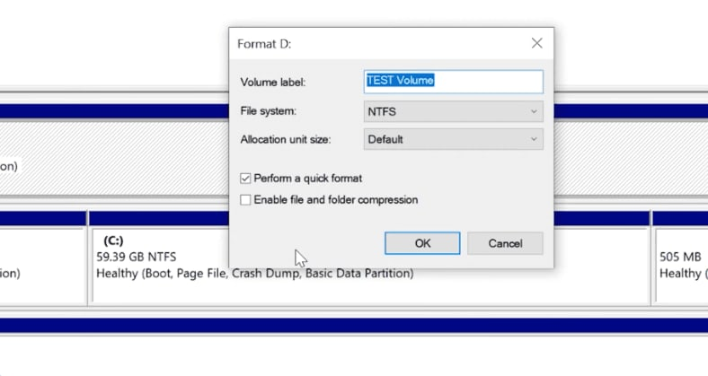 Formatting the Disk or Changing the File System