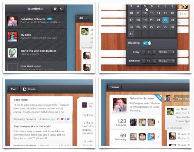 Wunderkit beta user interface.