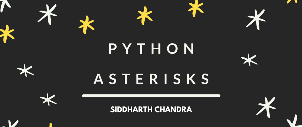 Cover image for Python Asterisks