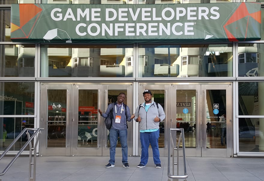 Me and Kyle, my game dev partner in crime at GDC 2018