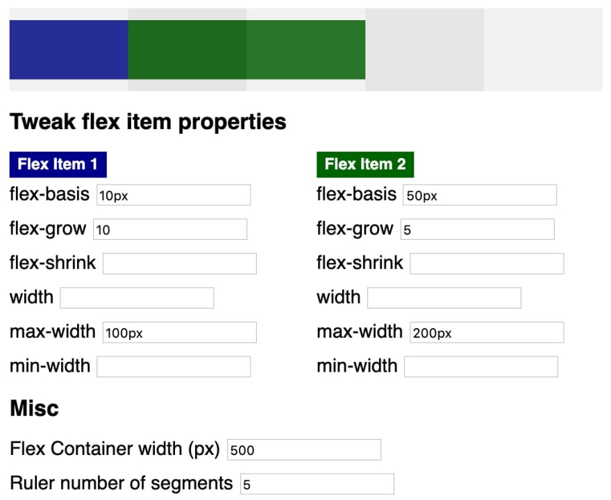 flex-grow with max-width properties