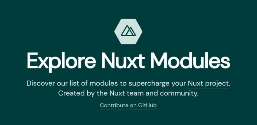 Nuxt modules explorer