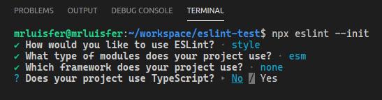 Typescript con Eslint