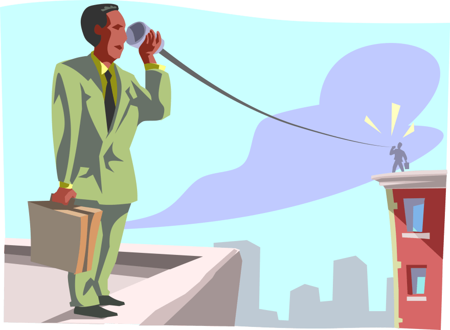 Entrepreneur in Tin Can with String - Vector Image.png