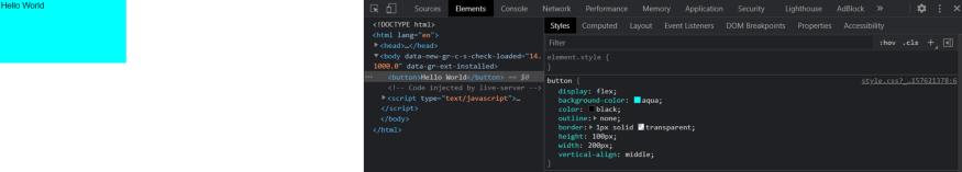 ScreenShot of the Chrome Developer tool.