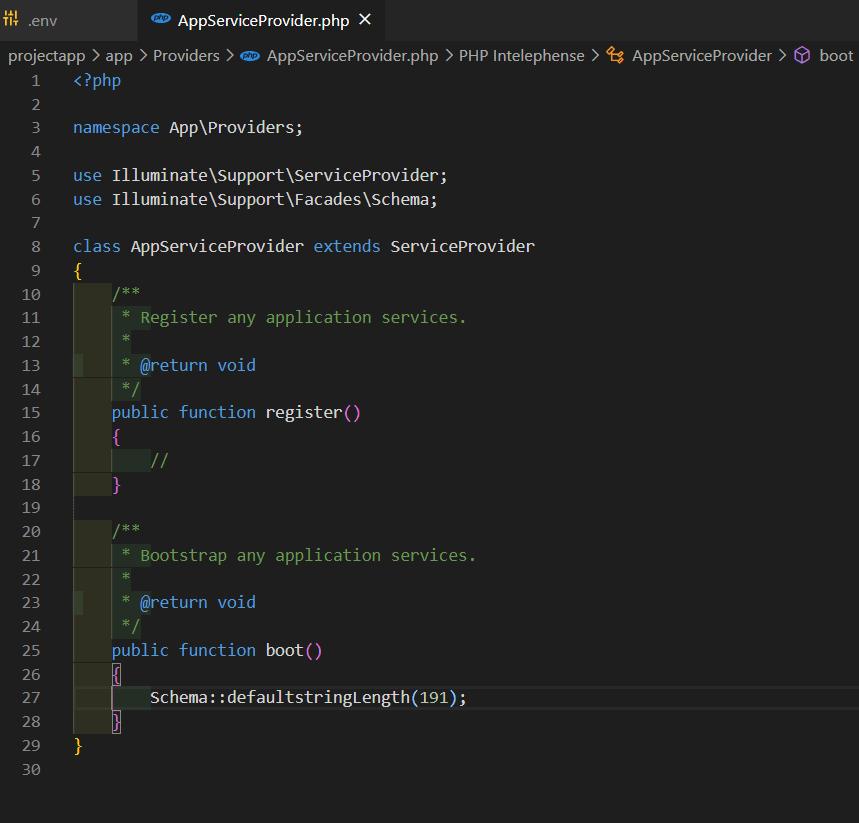 AppServiceProvider file