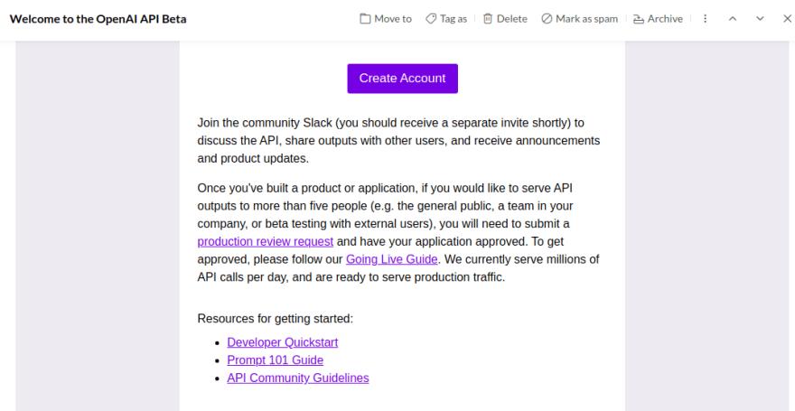 OpenAI API Approval