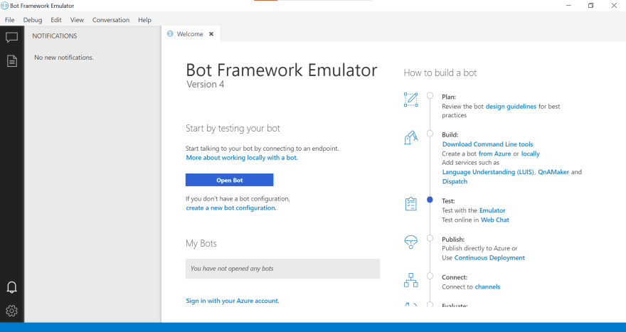 Botframework Emulator