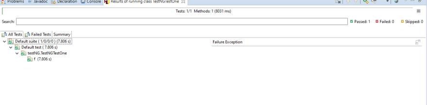 TestNG Results