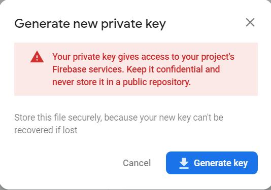 firebase security warning
