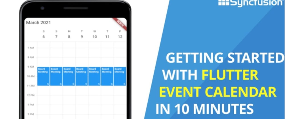 Cover image for Getting Started with Flutter Event Calendar in 10 Minutes