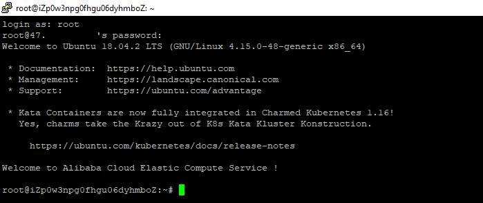 PuTTY main page for Ubuntu 18.04