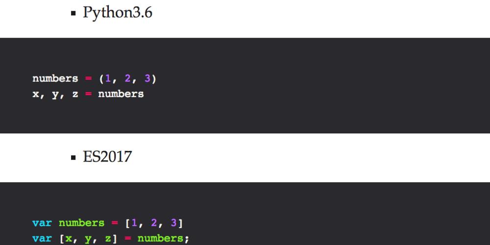 JavaScript is almost pythonic - DEV Community 👩 💻👨 💻