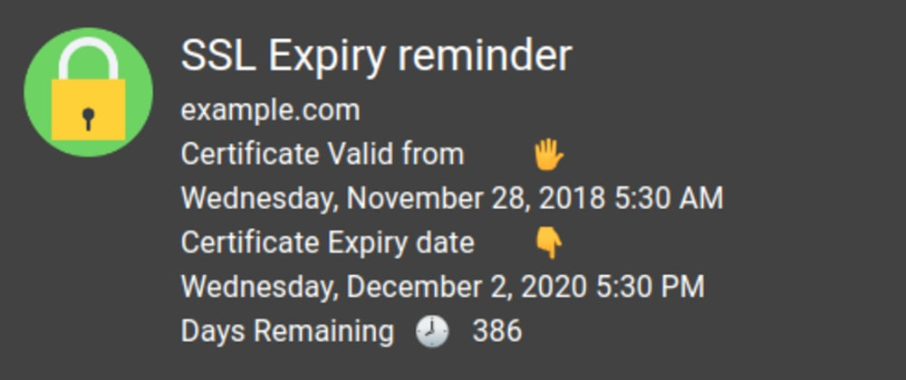 Cover image for SSL Expiry Reminder 🔔