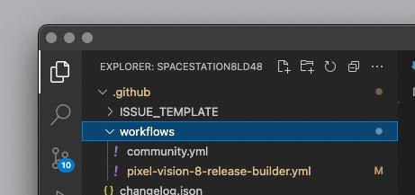 GitHub Workflow Folder