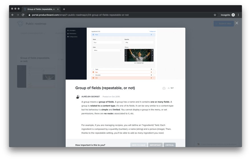 Productboard Screen