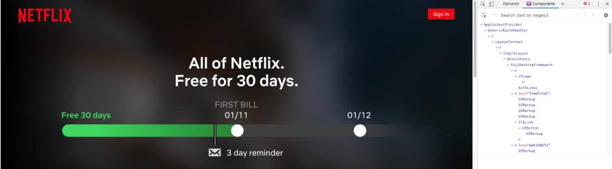 Netflix React DevTools