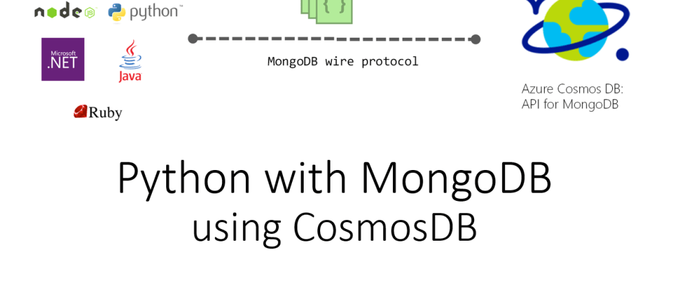 Cover image for Python with CosmosDB for MongoDB API – Update Records