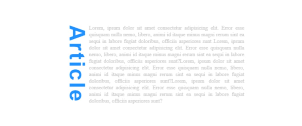 Cover image for CSS Tricks - Vertical text with CSS writing-mode