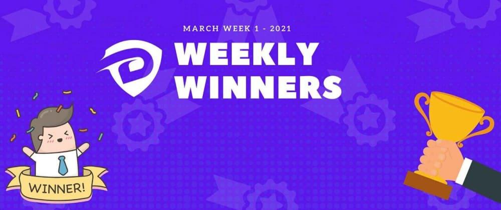 Cover image for DevDojo Weekly Winners Week 1 March 2021