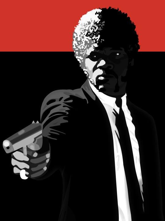 Samuel L. Jackson as Jules Winnfield from Pulp Fiction