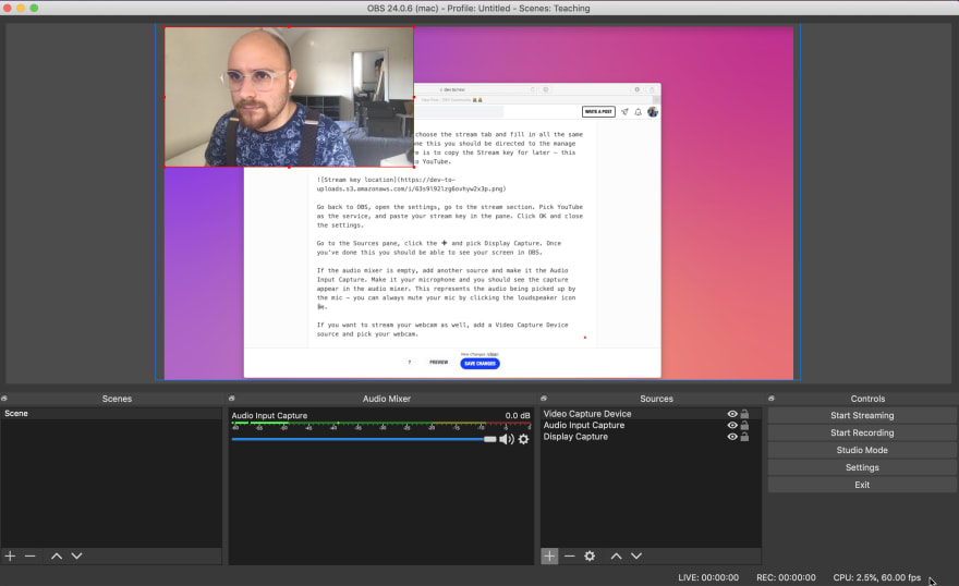 OBS with multiple sources